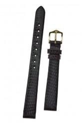 Hirsch 'Lizard' 16mm Burgundy Leather Strap