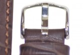 Hirsch 'Duke' Dark Brown Long Leather Strap, 18mm