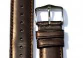 Hirsch 'Merino-Artisan' Dark brown Leather Strap, 18mm