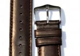 Hirsch 'Merino-Artisan' Dark brown Leather Strap, 18mm