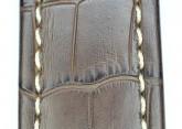 Hirsch 'Knight' 28mm Brown Leather Strap