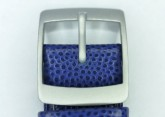 Hirsch Mel, Watch Strap for Swatch Gents in Blue, 16mm, Plastic Buckle
