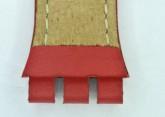 Hirsch Lionel, Watch Strap for Swatch Chronos in Red, 19mm Steel Buckle