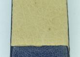Hirsch 'Diamond calf'' Blue Leather Strap,L, 14mm