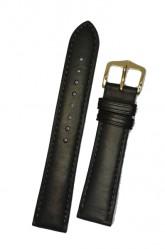Hirsch 'Merino-Artisan' M Black Leather Strap, 18mm