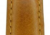 Hirsch 'Forest' L 18mm Golden Brown Soft Calfskin Leather Strap