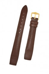 Hirsch 'Rainbow' M Brown Openended Leather Strap, 18mm