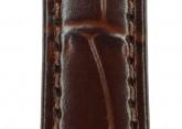 Hirsch 'LouisianaLook' M Black Leather Strap, 12mm