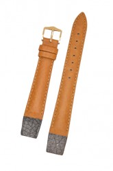 Hirsch 'Camelgrain' open ended 20mm Honey Leather Strap