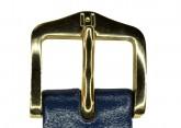 Hirsch 'Umbria ' M Blue Leather Strap, 14mm