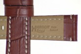 Hirsch 'Knight' 24mm Golden brown leather strap