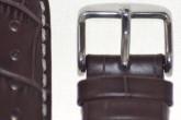 Hirsch 'Modena' Brown Leather Strap, 22mm