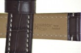 Hirsch 'Knight' 24mm Brown Leather Strap