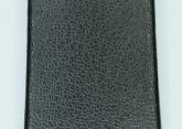 Hirsch 'Diamond calf'' Black Leather Strap,M, 20mm
