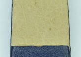 Hirsch 'Diamond calf'' Blue Leather Strap,L, 20mm