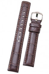 Hirsch 'Grand Duke' High Tech 18mm Brown Leather Strap