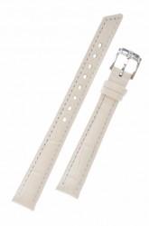 Hirsch 'Princess' White Leather Strap, 12mm