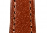 Hirsch 'Osiris' Middle Brown Leather Strap, 12mm