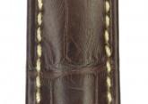 Hirsch 'Viscount' Brown Leather Strap, 19mm