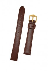 Hirsch 'Umbria ' M Brown Leather Strap, 16mm