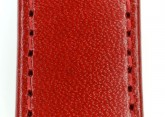 Hirsch 'Osiris' Red Leather Strap, 20mm