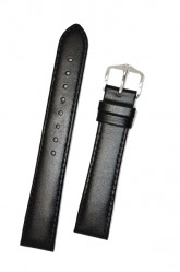 Hirsch 'Osiris' XL Black Leather Strap, 18mm