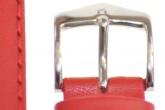 Hirsch 'Runner' 24mm Red Leather Strap