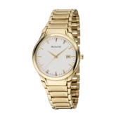 Gents quartz Accurist gold plated bracelet watch MB864W