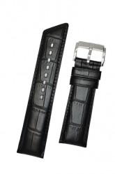 Hirsch 'Princess' Black Leather Strap, 24mm