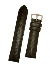 Hirsch 'Rainbow' L Black Leather Strap, 18mm