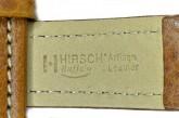 Hirsch 'Buffalo' M 18mm Golden Brown Leather Strap
