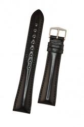 Hirsch 'Siena' L Black,20mm  Tuscan Leather Strap
