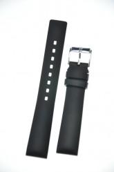 Hirsch 'Pure' M 18mm Black Rubber Strap