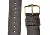 Hirsch 'Lizard' 18mm Brown Leather Strap