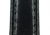 Hirsch 'Osiris' Black Leather Strap, 14mm
