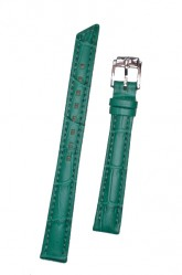 Hirsch 'Princess' Teal Leather Strap, 16mm