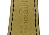 Hirsch 'Siena' L Black,18mm  Tuscan Leather Strap