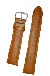 Hirsch 'Forest' L 22mm Golden Brown Soft Calfskin Leather Strap