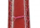 Hirsch 'Crocograin' Burgundy Leather Strap,M, 16mm