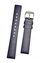 Hirsch 'Pure' 22mm Blue Rubber Strap