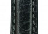 Hirsch 'Highland' M Black, leather watch strap 12mm