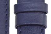Hirsch 'Runner' 24mm Blue Leather Strap