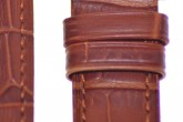 Hirsch 'Duke' Mid Brown Leather Strap, 14mm