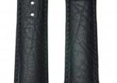 Hirsch 'Highland' Black, leather watch strap 18mm