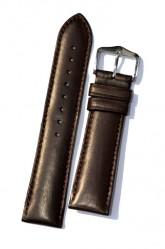 Hirsch 'Merino-Artisan' Dark brown Leather Strap, 20mm