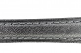 Hirsch 'Camelgrain' XL 22mm Black Leather Strap