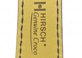Hirsch 'Genuine Croco' M 17mm Blue Leather Strap