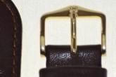 Hirsch 'Osiris' L Brown Leather Strap, 17mm