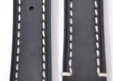 Hirsch 'Liberty' 22mm Black Leather Strap