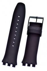 Swatch Black Rubber Watch Strap 'Black Rebel'  ASUOB702